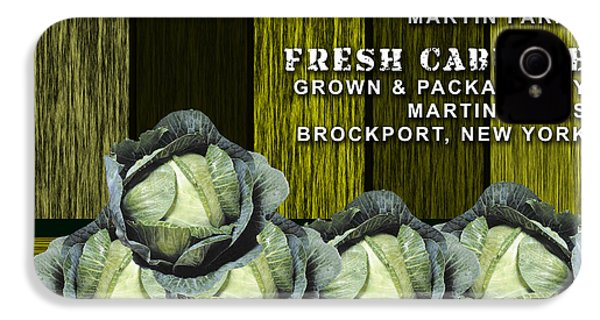 Cabbage Farm IPhone 4s Case by Marvin Blaine