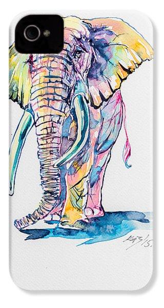 Colorful Elephant IPhone 4s Case by Kovacs Anna Brigitta