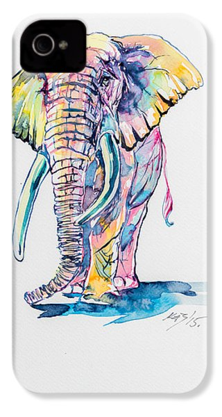 Colorful Elephant IPhone 4s Case by Kovacs Anna Brigitta