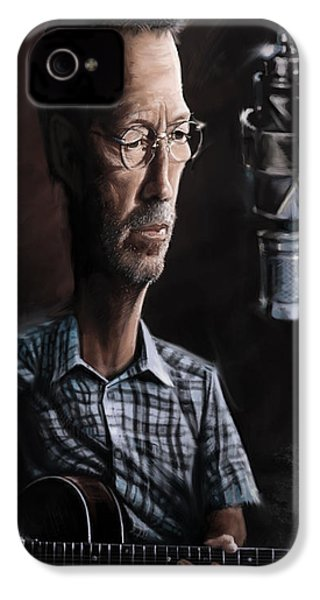 Eric Clapton IPhone 4s Case by Andre Koekemoer