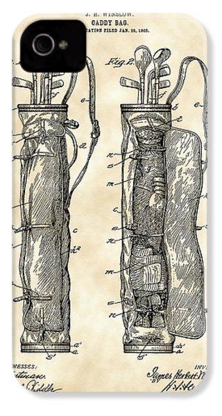 Golf Bag Patent 1905 - Vintage IPhone 4s Case