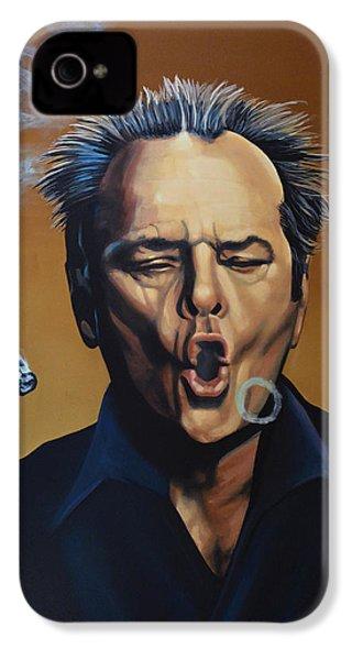 Jack Nicholson Painting IPhone 4s Case by Paul Meijering