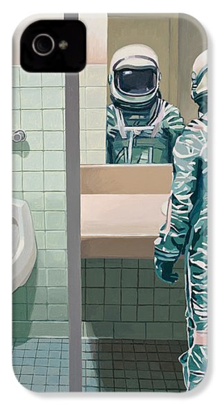 IPhone 4s Case featuring the painting Men's Room by Scott Listfield
