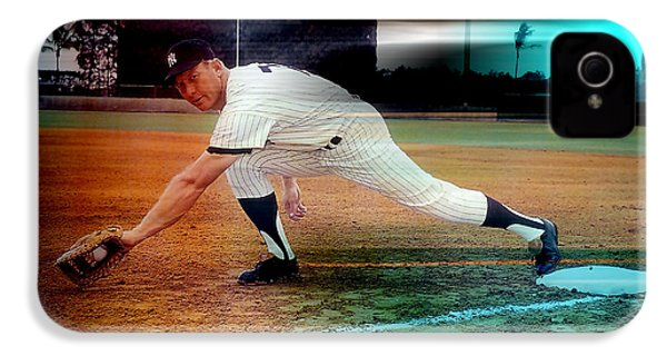 Mickey Mantle IPhone 4s Case by Marvin Blaine