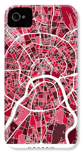 Moscow City Street Map IPhone 4s Case