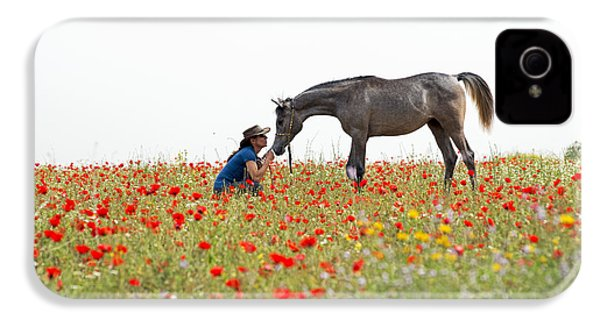 Three At The Poppies' Field... 4 IPhone 4s Case by Dubi Roman