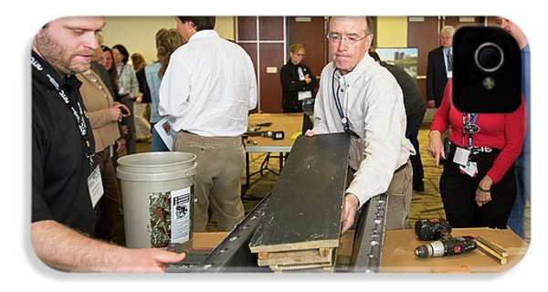 Volunteers Making Bat Houses IPhone 4s Case by Jim West