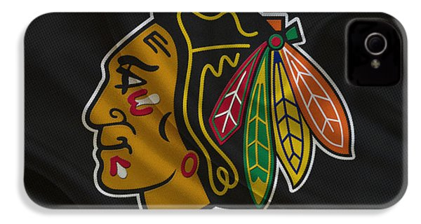 Chicago Blackhawks IPhone 4s Case by Joe Hamilton