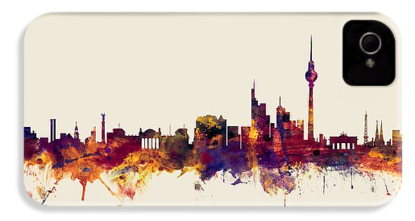 Berlin Germany Skyline IPhone 4s Case by Michael Tompsett