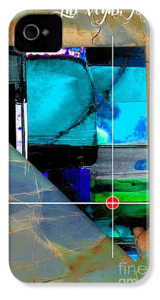 Las Vegas Nevada Map Watercolor IPhone 4s Case by Marvin Blaine