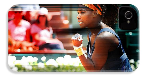 Serena Williams IPhone 4s Case by Marvin Blaine