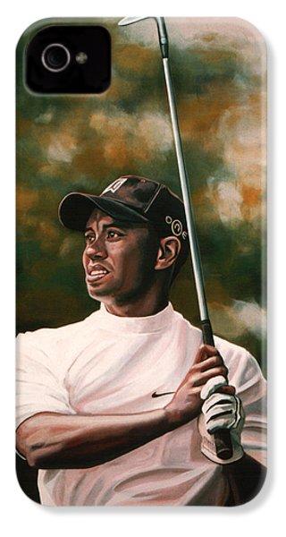 Tiger Woods  IPhone 4s Case by Paul Meijering