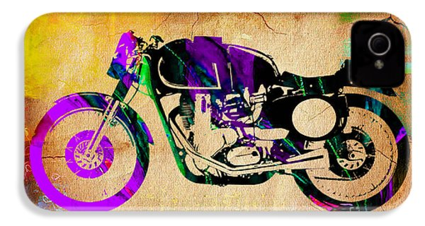 Cafe Racer Motorcycle IPhone 4s Case by Marvin Blaine
