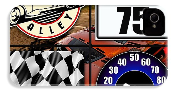 Speed Demon Art For Boys And Men IPhone 4s Case by Marvin Blaine