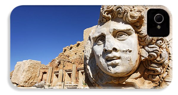 Sculpted Medusa Head At The Forum Of Severus At Leptis Magna In Libya IPhone 4s Case
