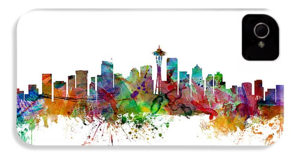 Seattle Washington Skyline IPhone 4s Case by Michael Tompsett