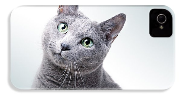 Russian Blue Cat IPhone 4s Case