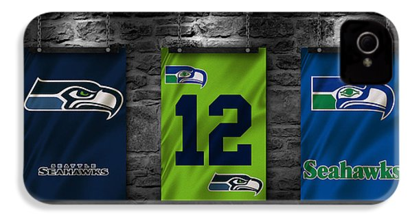 Seattle Seahawks IPhone 4s Case by Joe Hamilton