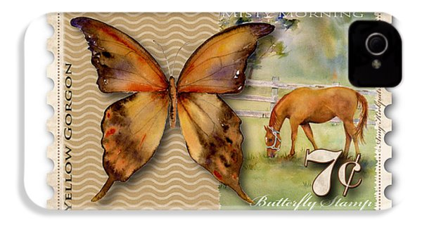 7 Cent Butterfly Stamp IPhone 4s Case