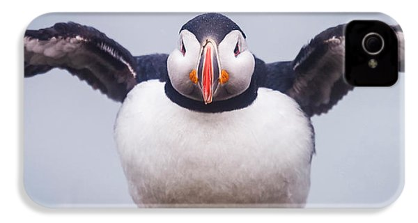 Atlantic Puffin Fratercula Arctica IPhone 4s Case by Panoramic Images