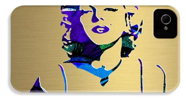 Marilyn Monroe Gold Series IPhone 4s Case by Marvin Blaine