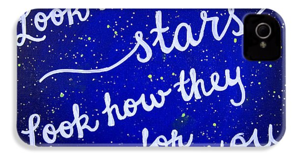 8x10 Look At The Stars IPhone 4s Case by Michelle Eshleman