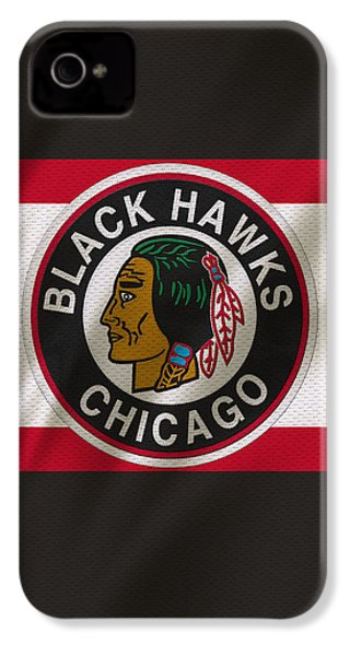 Chicago Blackhawks Uniform IPhone 4s Case by Joe Hamilton
