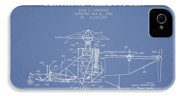 Sikorsky Helicopter Patent Drawing From 1943 IPhone 4s Case by Aged Pixel