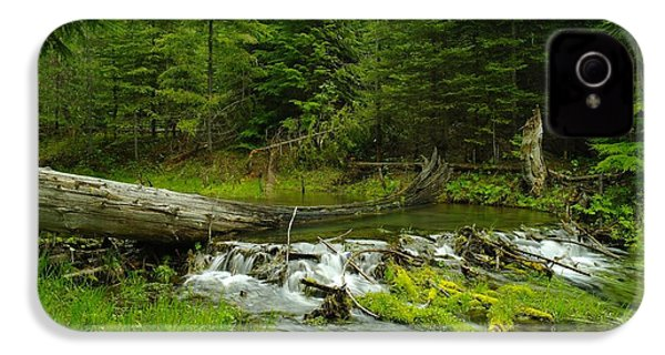 A Beaver Dam Overflowing IPhone 4s Case by Jeff Swan