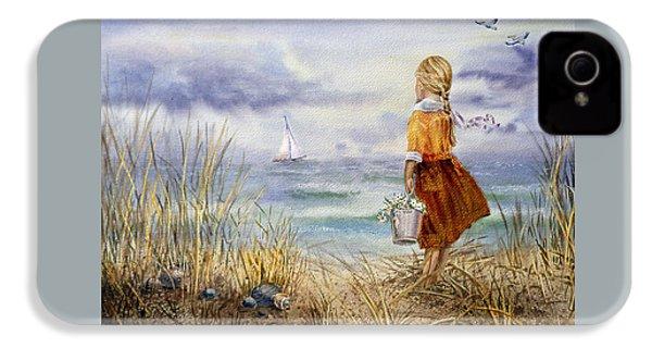 A Girl And The Ocean IPhone 4s Case by Irina Sztukowski