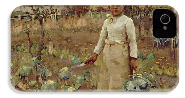 A Hinds Daughter, 1883 Oil On Canvas IPhone 4s Case by Sir James Guthrie