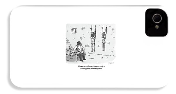 A Prisoner In A Dungeon Speaks To A Torturer Who IPhone 4s Case by Zachary Kanin