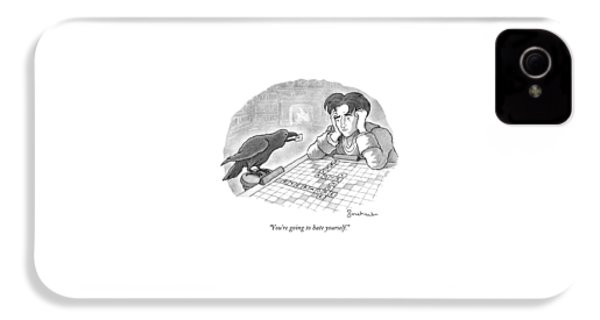 A Raven Is About To Add An N To The Word Evermore IPhone 4s Case by David Borchart