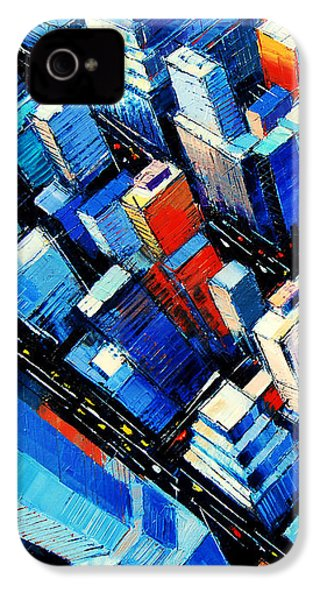Abstract New York Sky View IPhone 4s Case by Mona Edulesco