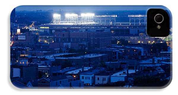 Aerial View Of A City, Wrigley Field IPhone 4s Case by Panoramic Images
