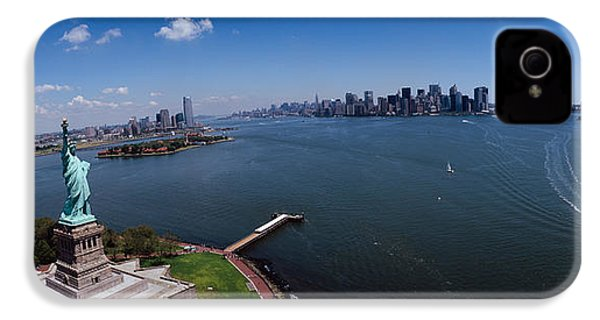 Aerial View Of A Statue, Statue IPhone 4s Case by Panoramic Images