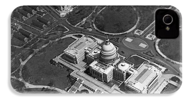 Aerial View Of U.s. Capitol IPhone 4s Case by Underwood Archives