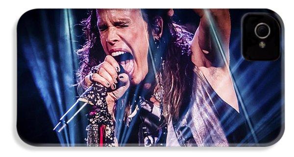 Aerosmith Steven Tyler Singing In Concert IPhone 4s Case by Jani Bryson