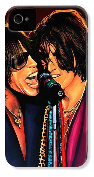 Aerosmith Toxic Twins Painting IPhone 4s Case by Paul Meijering