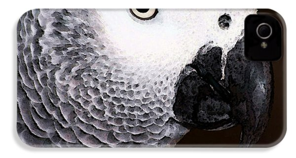African Gray Parrot Art - Seeing Is Believing IPhone 4s Case by Sharon Cummings