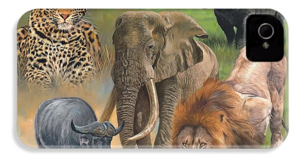 Africa's Big Five IPhone 4s Case by David Stribbling