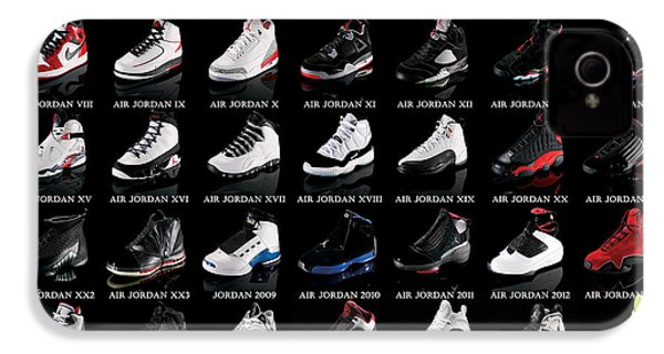 Air Jordan Shoe Gallery IPhone 4s Case by Brian Reaves