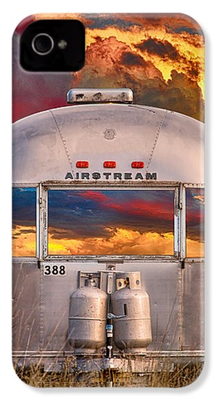 Airstream Travel Trailer Camping Sunset Window View IPhone 4s Case