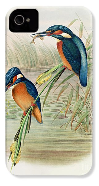 Alcedo Ispida Plate From The Birds Of Great Britain By John Gould IPhone 4s Case by John Gould William Hart