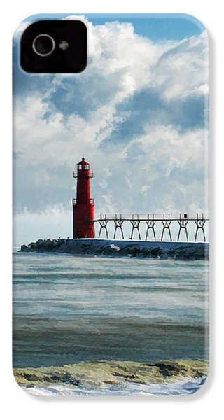 Algoma Pierhead Lighthouse IPhone 4s Case by Christopher Arndt