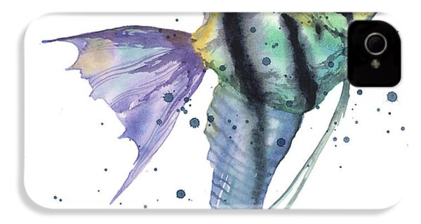 Alluring Angelfish IPhone 4s Case by Alison Fennell