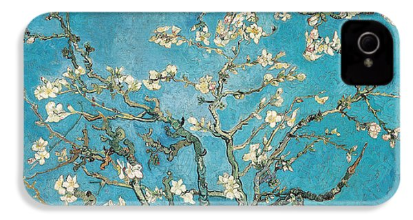 Almond Branches In Bloom IPhone 4s Case by Vincent van Gogh