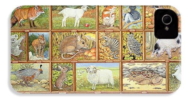 Alphabetical Animals IPhone 4s Case