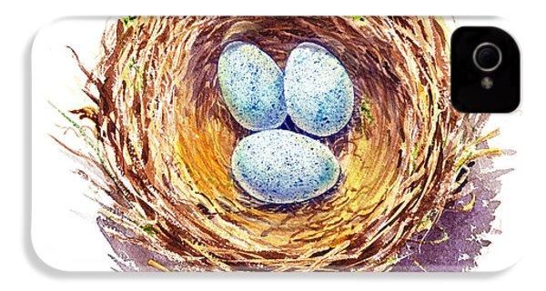 American Robin Nest IPhone 4s Case by Irina Sztukowski