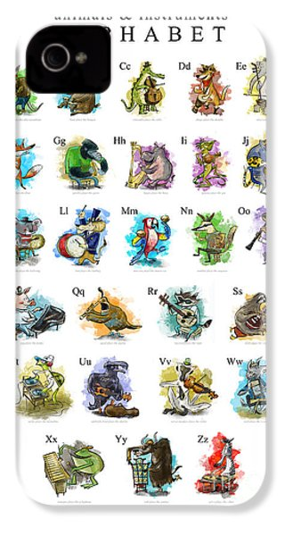 Animals And Instruments Alphabet IPhone 4s Case